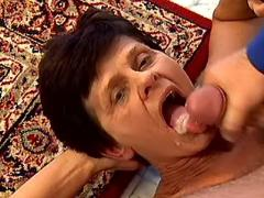 Granny gets real fuck and lavish cumload in mouth