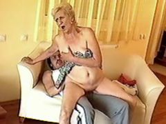 Lusty granny crazy fucked by man in every poses