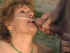 Granny gets crazy DP and double cumload in group