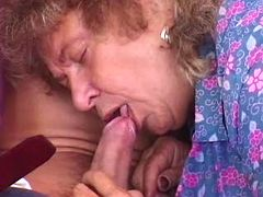 This old and nasty granny also needs some caress