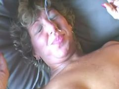 Dude crazy fucks lustful granny and cums on face