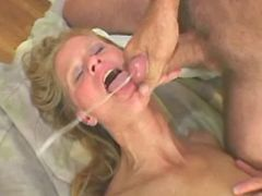 Horny granny gets cum in mouth after crazy fuck
