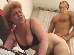 Hard guy crazy fucks old plump ladyin all poses